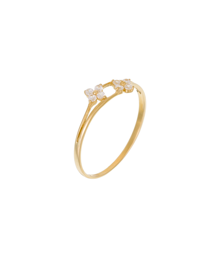 Rencontre florale yellow gold ring Sale - or eclat