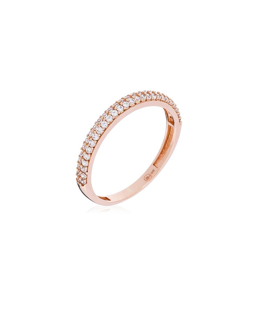 Amour Innocent Rose gold zirconium ring Sale - or eclat