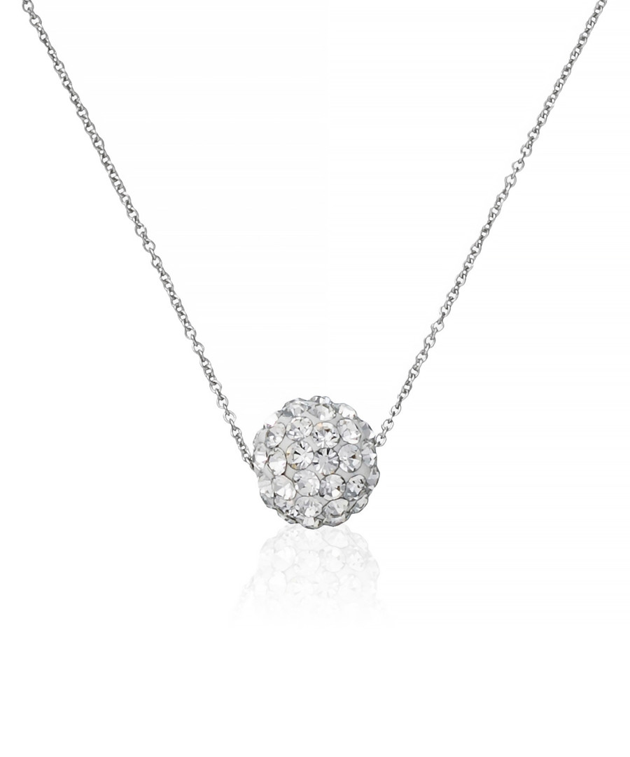 Bulle de crystal white gold necklace Sale - or eclat