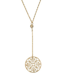 Rosace pendante yellow gold necklace