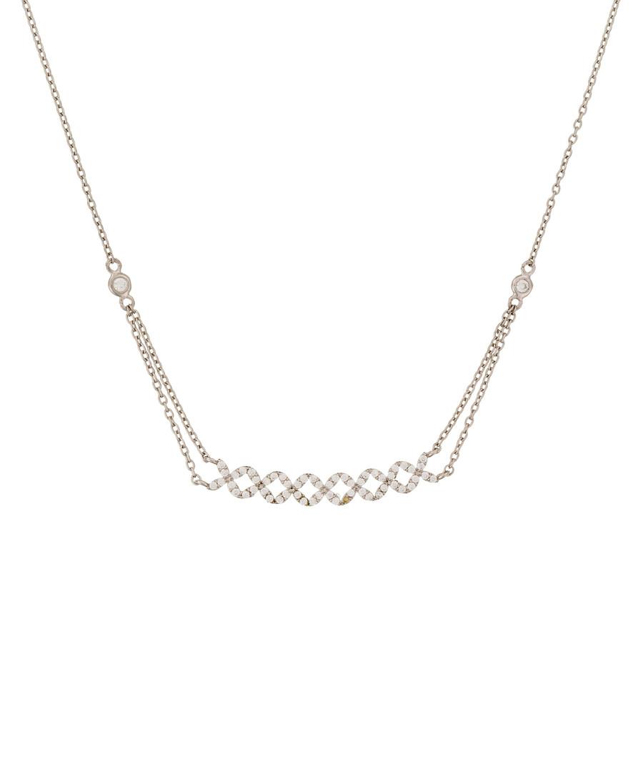 Brillants piqués white gold necklace Sale - or eclat