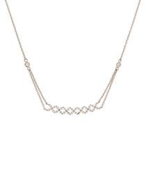 Brillants piqués white gold necklace