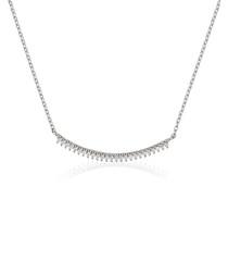 Barette white gold necklace