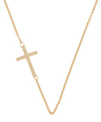 Petite croix yellow gold necklace