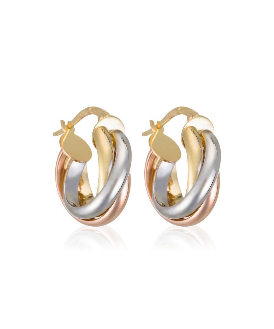 Enchanteresse tri-colour gold earrings Sale - or eclat