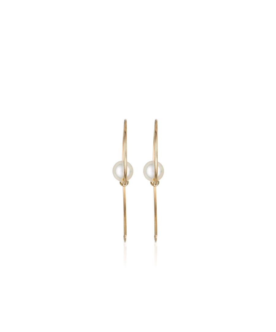 Perles arrondies yellow gold earrings Sale - or eclat