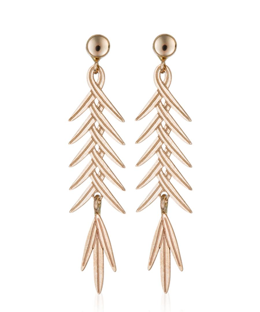 Feuillage brillant yellow gold earrings Sale - or eclat