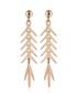 Feuillage brillant yellow gold earrings Sale - or eclat Sale