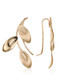 Gold petals yellow gold earrings Sale - or eclat Sale