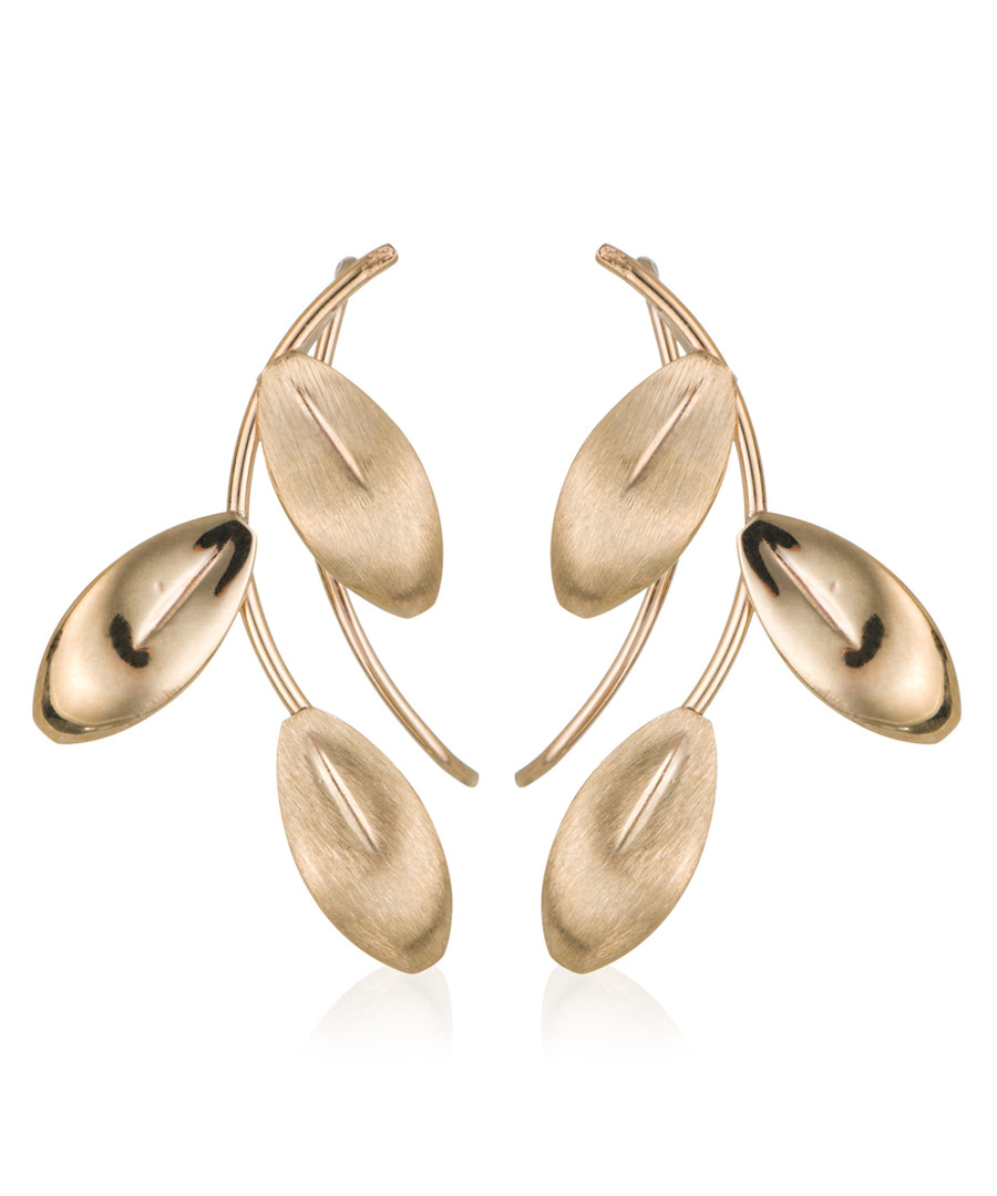Gold petals yellow gold earrings Sale - or eclat