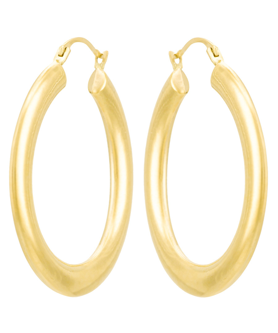 Créoles Malta yellow gold hoop earrings Sale - or eclat