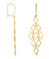 Crazy yellow gold drop earrings Sale - or eclat Sale