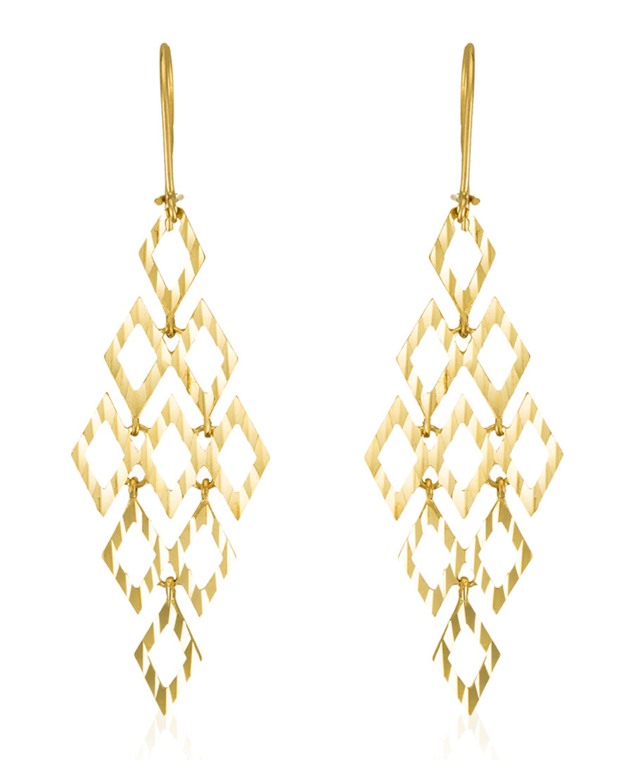 Crazy yellow gold drop earrings Sale - or eclat