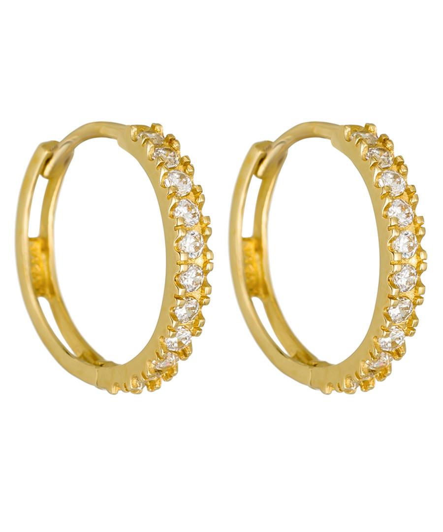 Petite Folie yellow gold hoop earrings Sale - or eclat