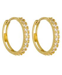 Petite Folie yellow gold hoop earrings