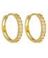 Petite Folie yellow gold hoop earrings Sale - or eclat Sale