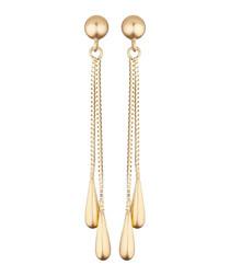 Pluie dorée yellow gold earrings