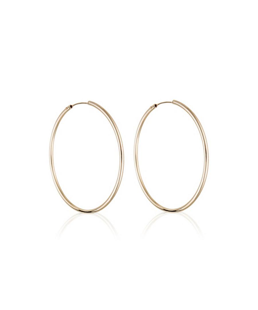 Créoles lisses yellow gold hoop earrings Sale - or eclat