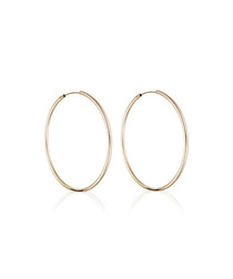 Créoles lisses yellow gold hoop earrings