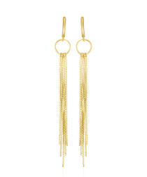 Cascade yellow gold drop earrings