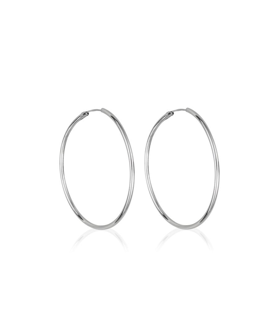 Créoles lisses white gold hoop earrings Sale - or eclat