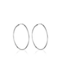 Créoles lisses white gold hoop earrings