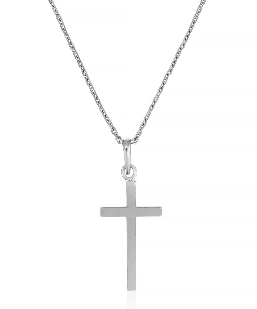 Croix Croyance white gold cross pendant Sale - or eclat