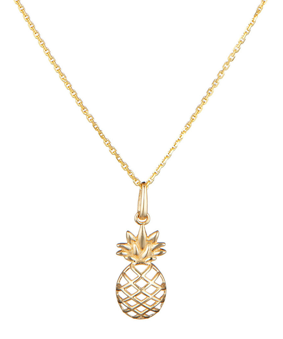 Ananas yellow gold pineapple pendant Sale - or eclat