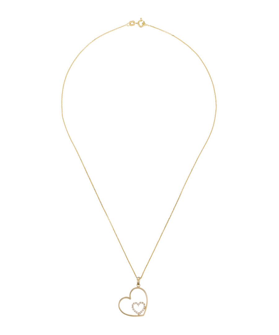 Féru d'Amour yellow gold heart pendant Sale - or eclat