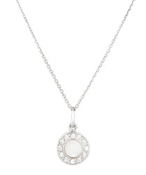 Merveille white gold circle pendant