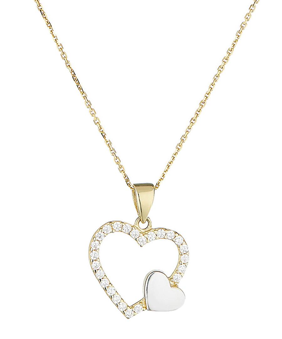 Duo de coeur bi-colour gold pendant Sale - or eclat