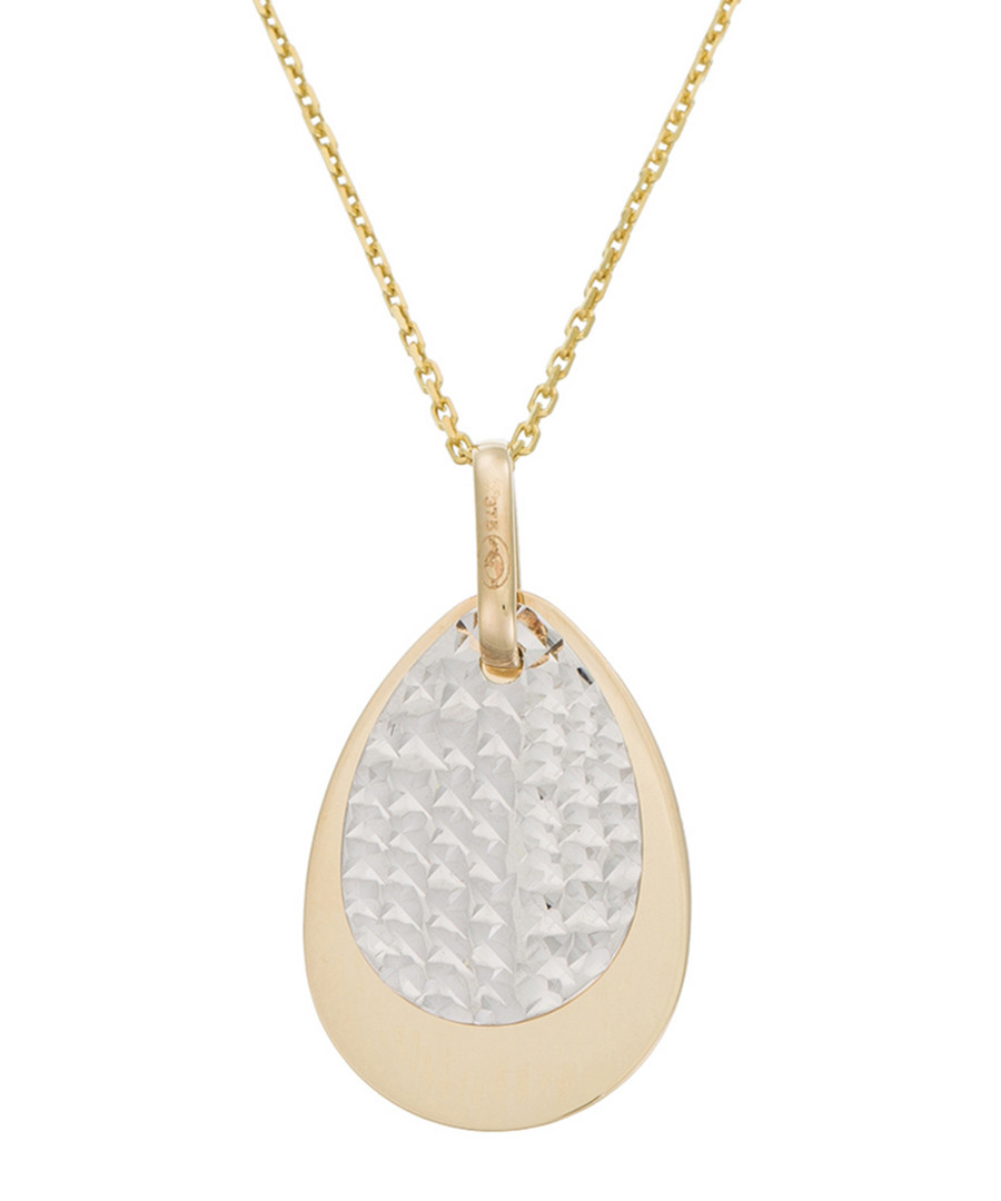 Goutte facettée bi-colour gold pendant Sale - or eclat