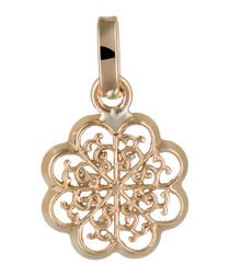 Médaillon Flora yellow gold pendant