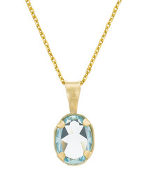 Belle topaze yellow gold pendant