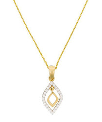 Losange brillant yellow gold pendant