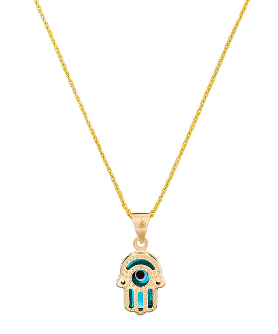 Main précieuse yellow gold hand pendant Sale - or eclat