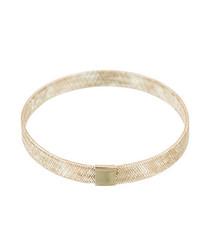Maille Tissée yellow gold mesh bracelet