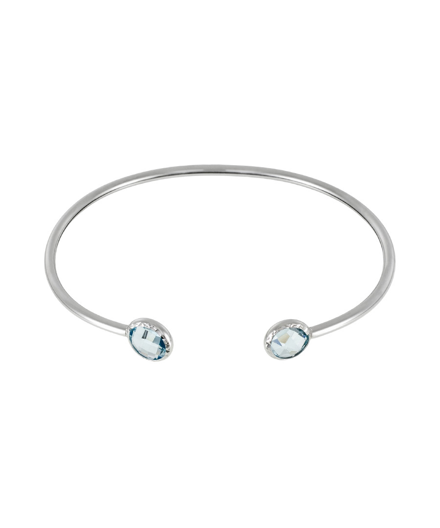 Duo Topaze white gold & topaz bangle Sale - or eclat