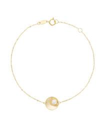 Raffinée yellow gold circle bracelet