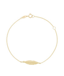 Imagine yellow gold leaf bracelet