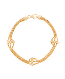 Five yellow gold chain bracelet