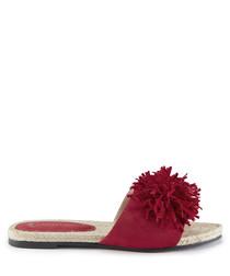 Red tassel slippers