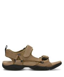 Dark beige nubuck sandals