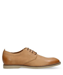 Walnut leather Oxford shoes