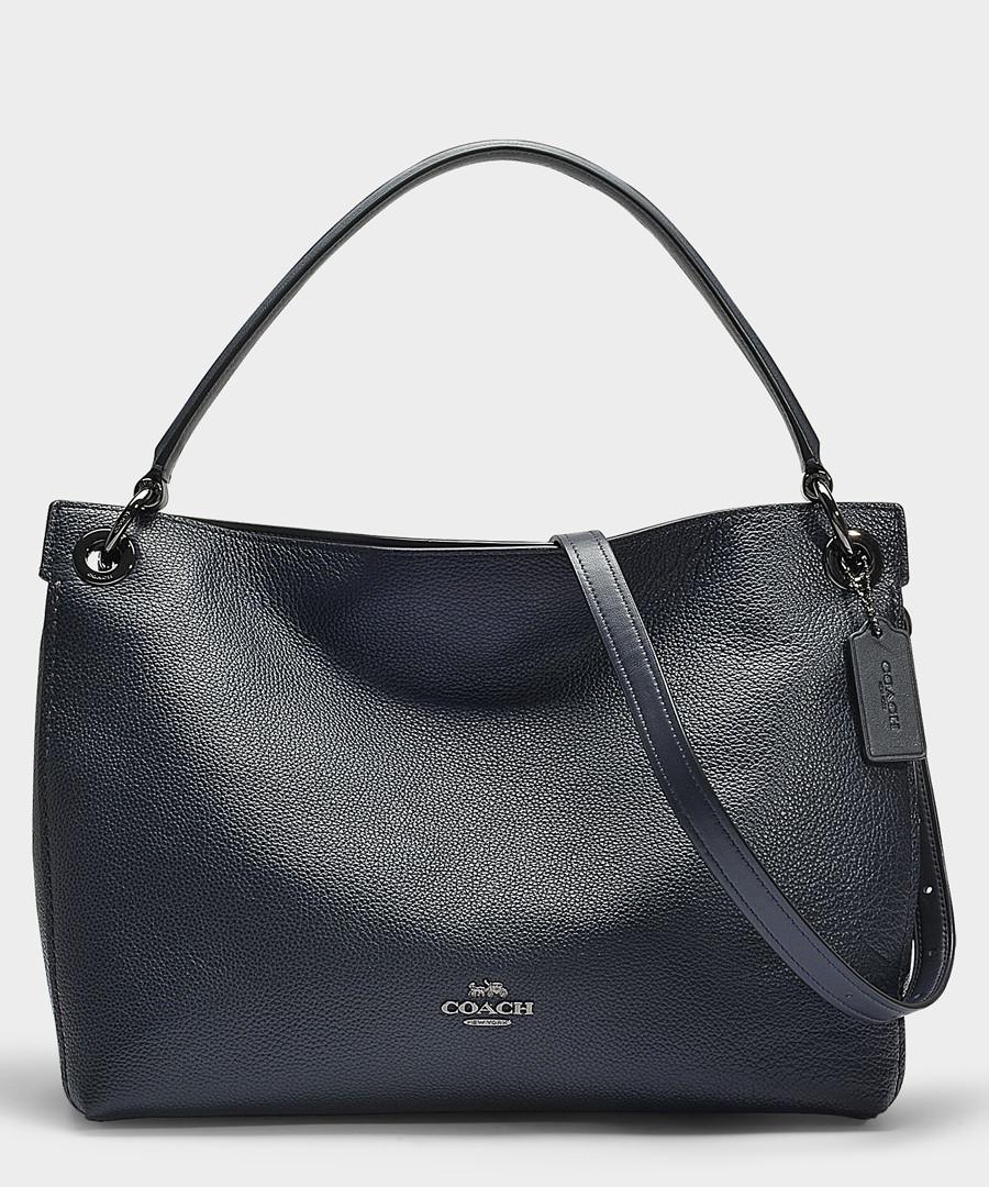 Clarkson navy leather hobo bag Sale - Coach