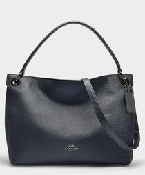 Clarkson navy leather hobo bag