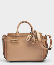 Double Swagger beechwood leather bag