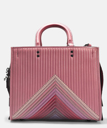 Rogue pink leather shoulder bag