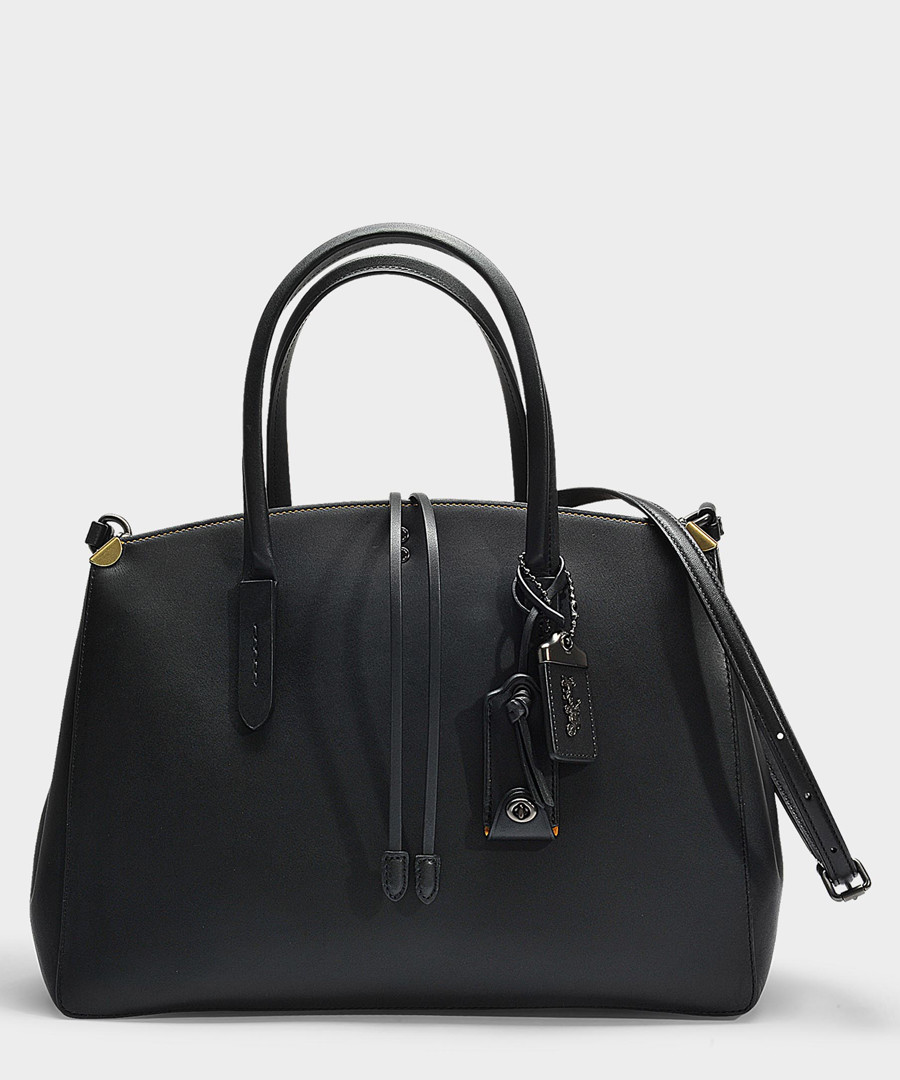 Cooper black leather carryall Sale - Coach