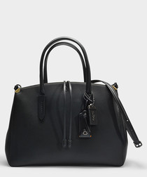 Cooper black leather carryall